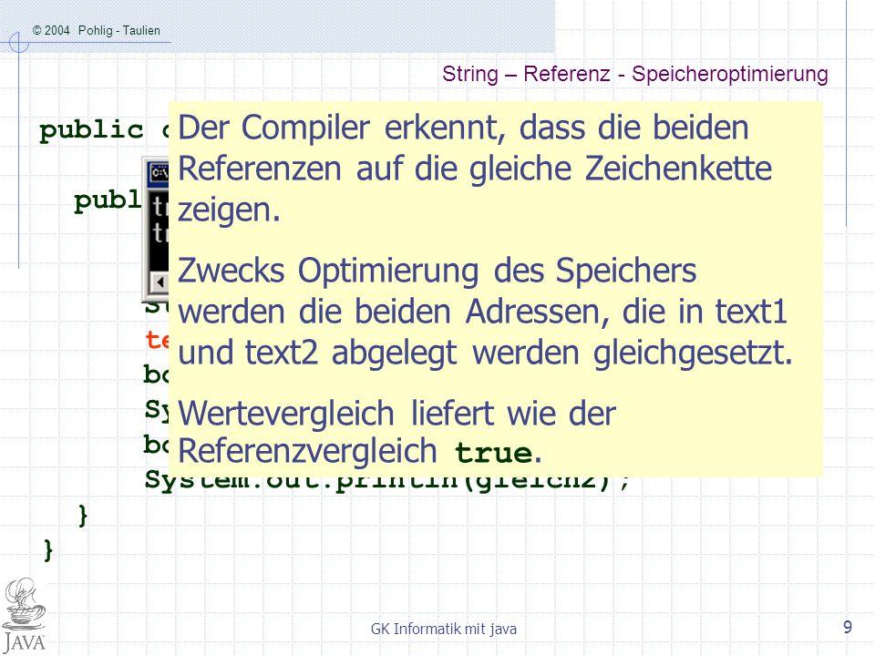 String – Referenz - Speicheroptimierung