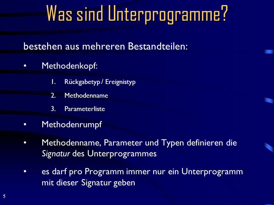 Was sind Unterprogramme