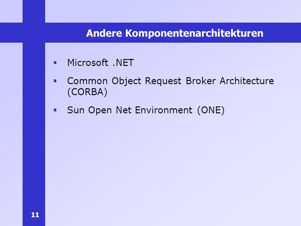 Andere Komponentenarchitekturen