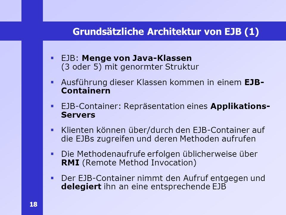 Grundsätzliche Architektur von EJB (1)