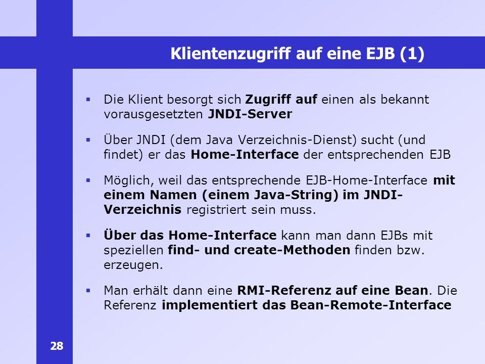 Klientenzugriff auf eine EJB (1)