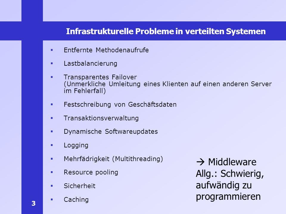 Infrastrukturelle Probleme in verteilten Systemen