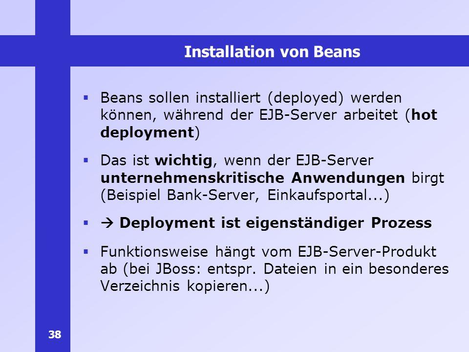 Installation von Beans