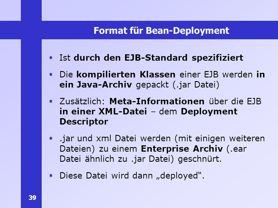 Format für Bean-Deployment