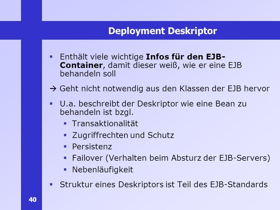 Deployment Deskriptor