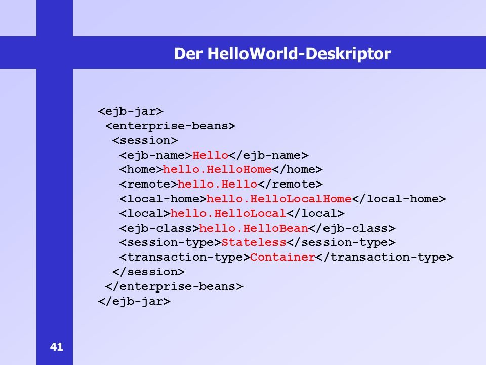 Der HelloWorld-Deskriptor