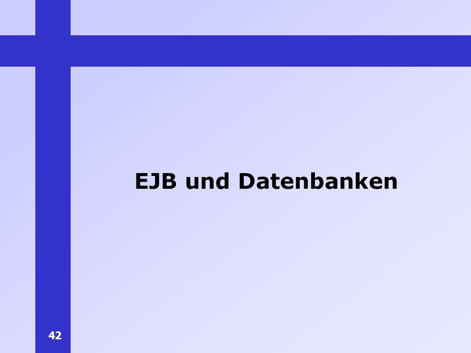 EJB und Datenbanken