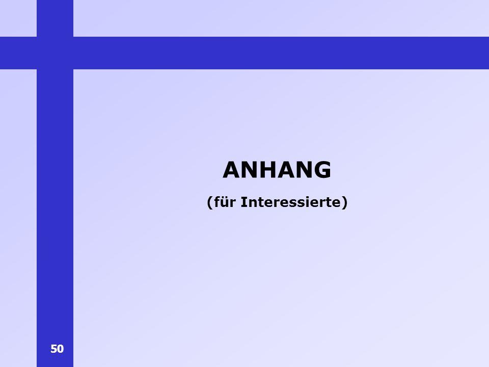 ANHANG (für Interessierte)