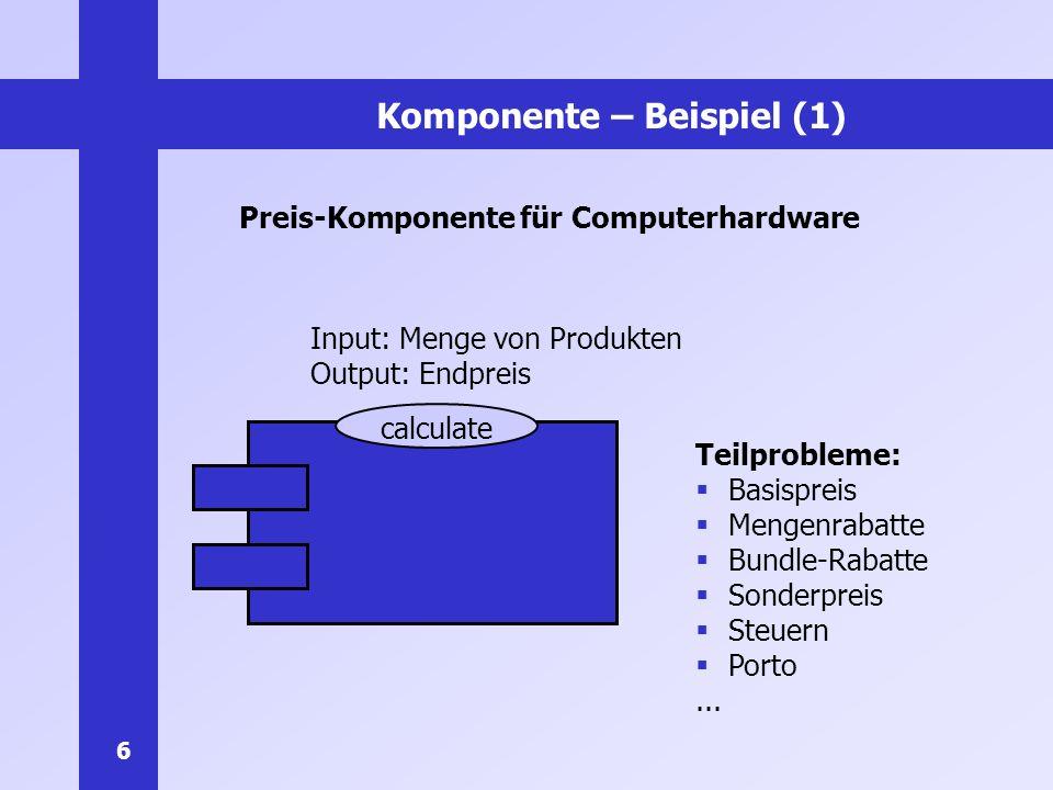 Komponente – Beispiel (1)
