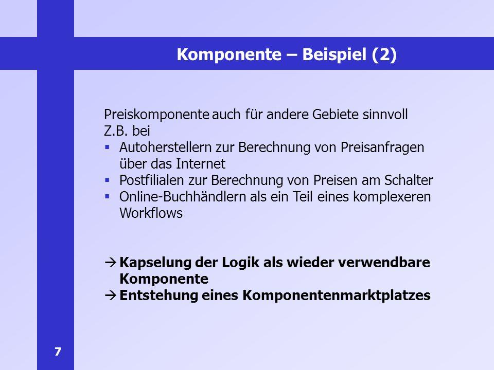 Komponente – Beispiel (2)