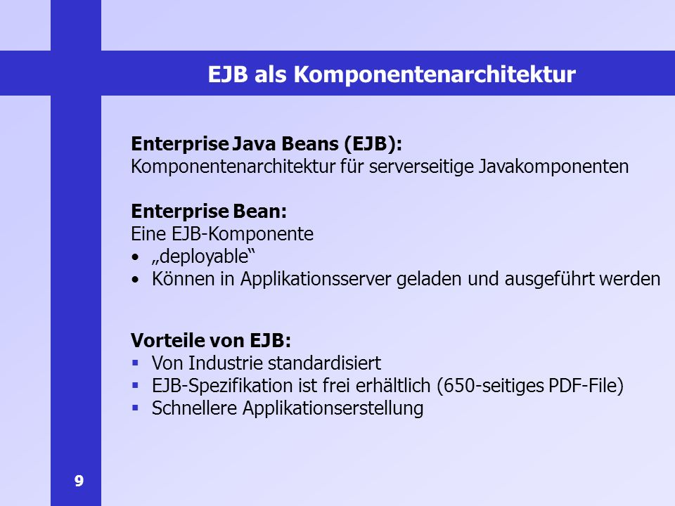 EJB als Komponentenarchitektur