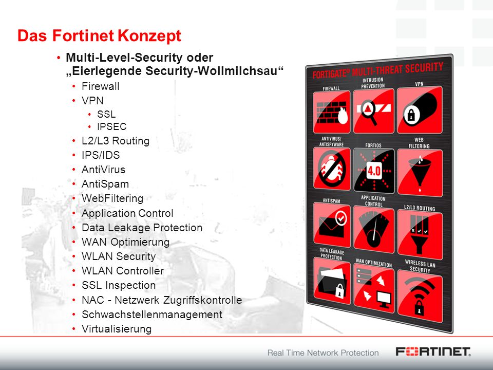 "Das Fortinet Konzept Multi-Level-Security oder ""Eierlegende Security-Wollmilchsau Firewall. VPN."