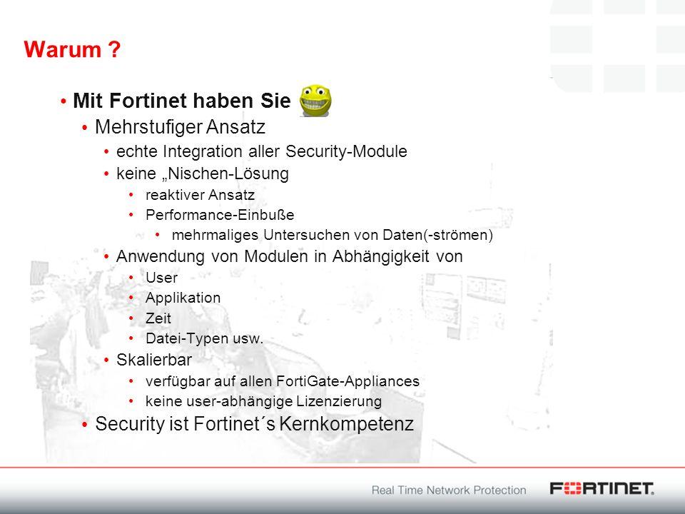 Warum Mit Fortinet haben Sie Mehrstufiger Ansatz