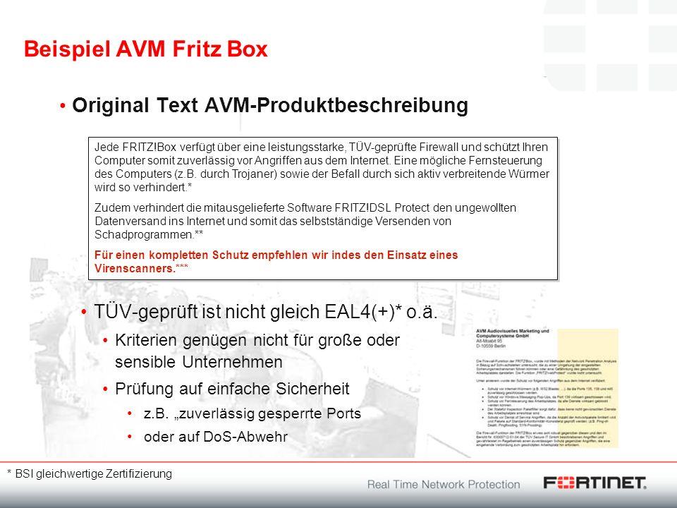 Beispiel AVM Fritz Box Original Text AVM-Produktbeschreibung