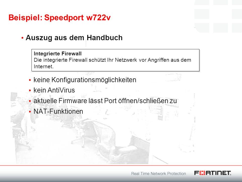 Beispiel: Speedport w722v