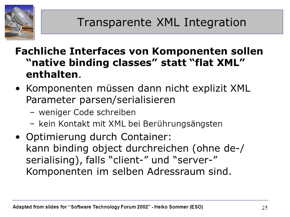 Transparente XML Integration