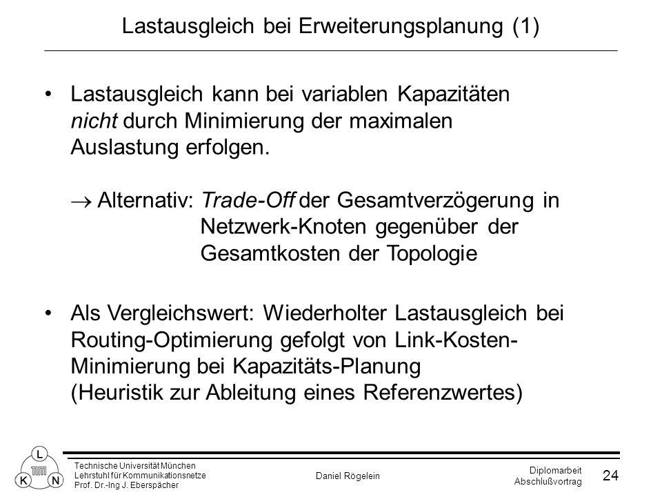 Lastausgleich bei Erweiterungsplanung (1)