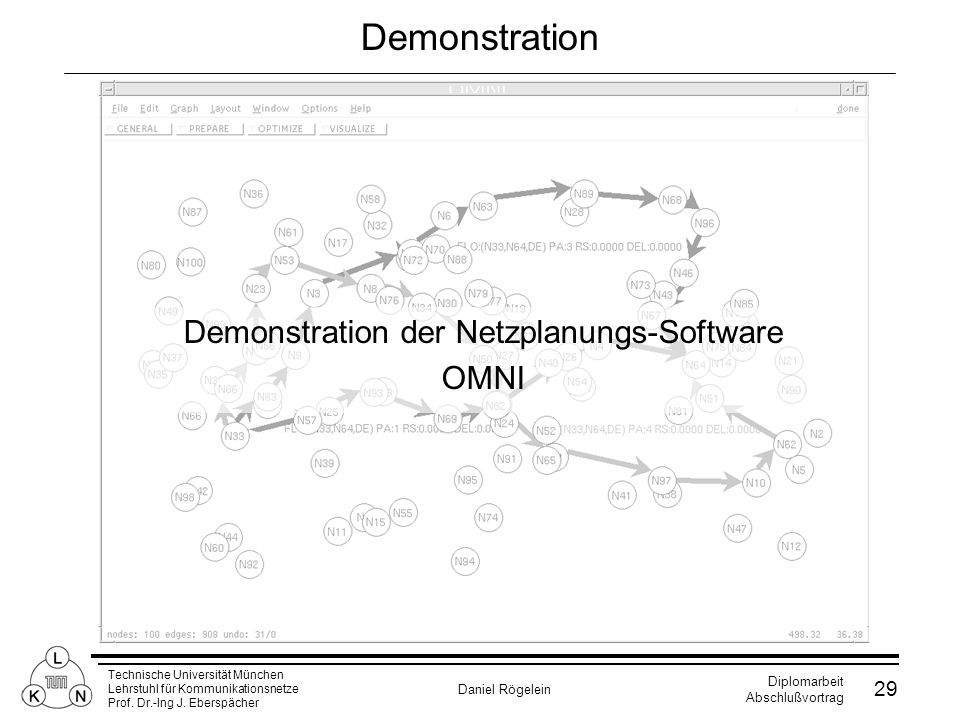 Demonstration der Netzplanungs-Software
