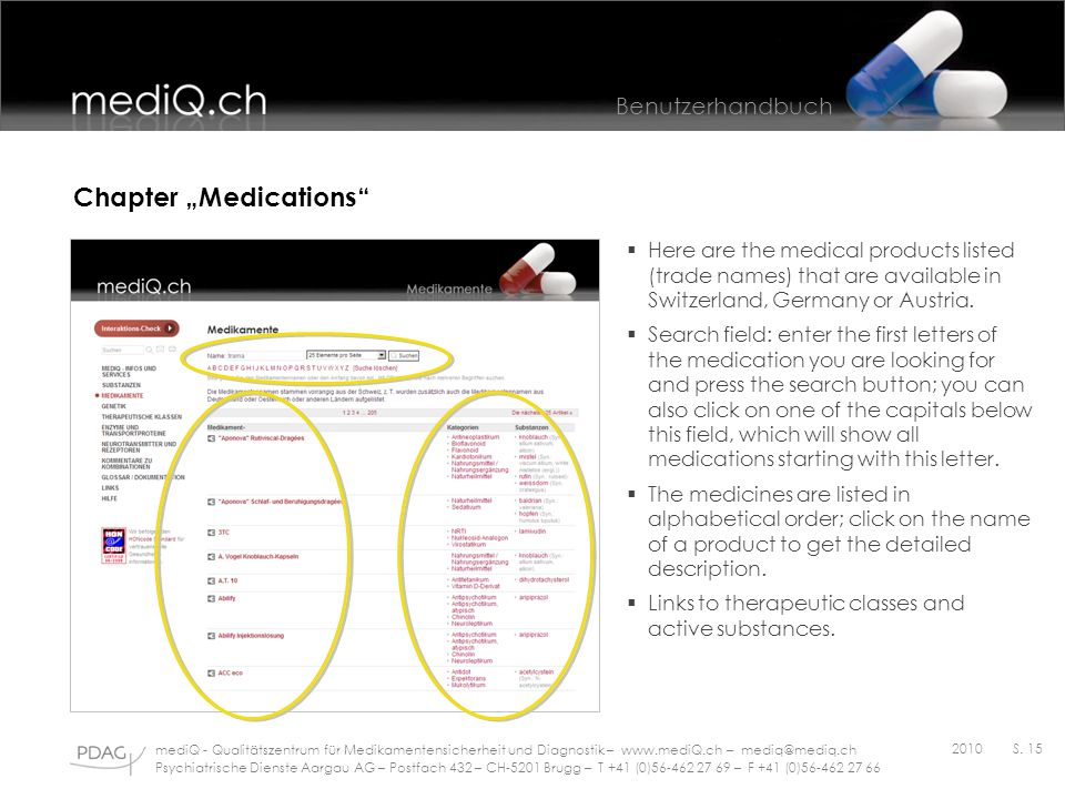 "Chapter ""Medications"