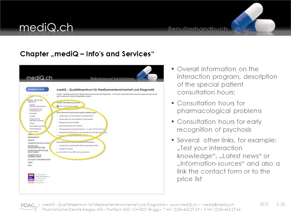 "Chapter ""mediQ – Info s and Services"