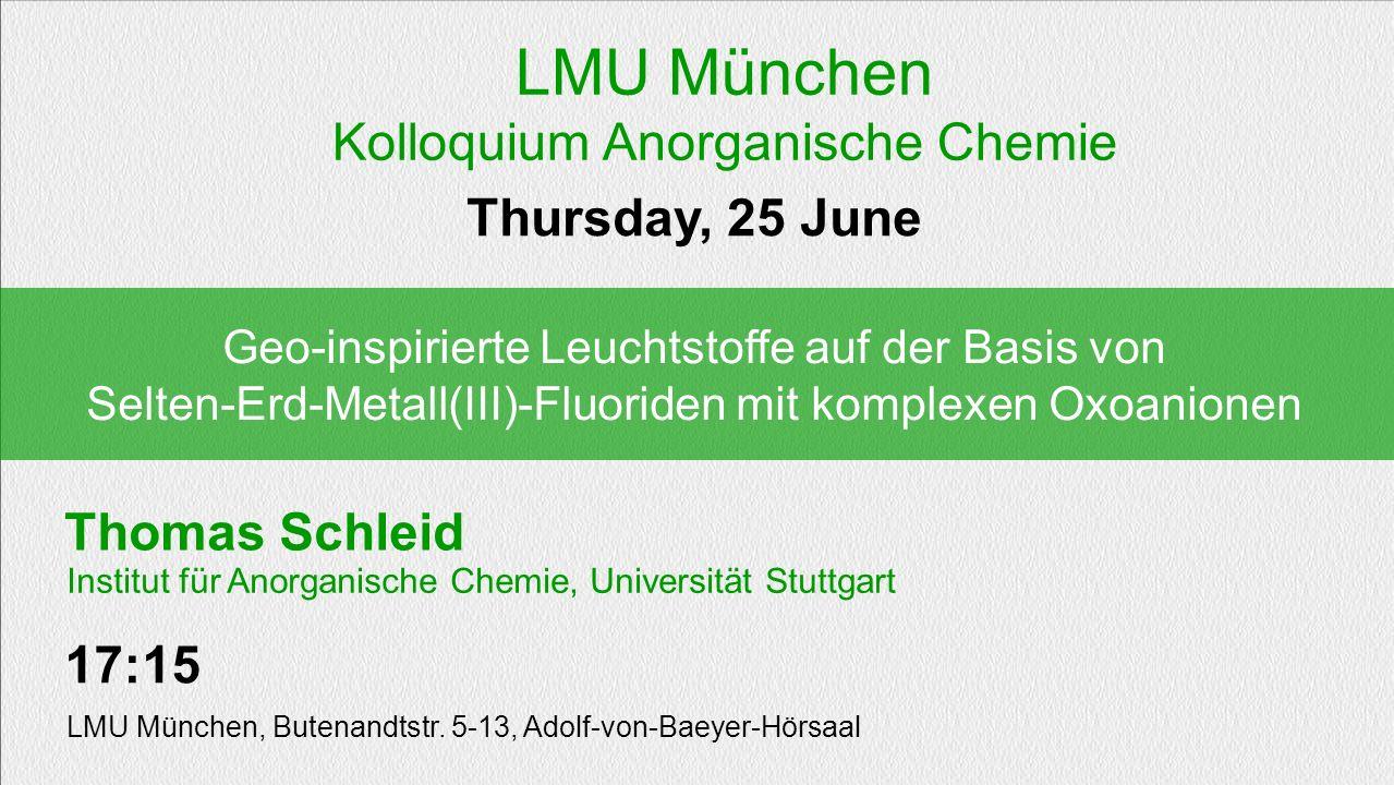 Kolloquium Anorganische Chemie