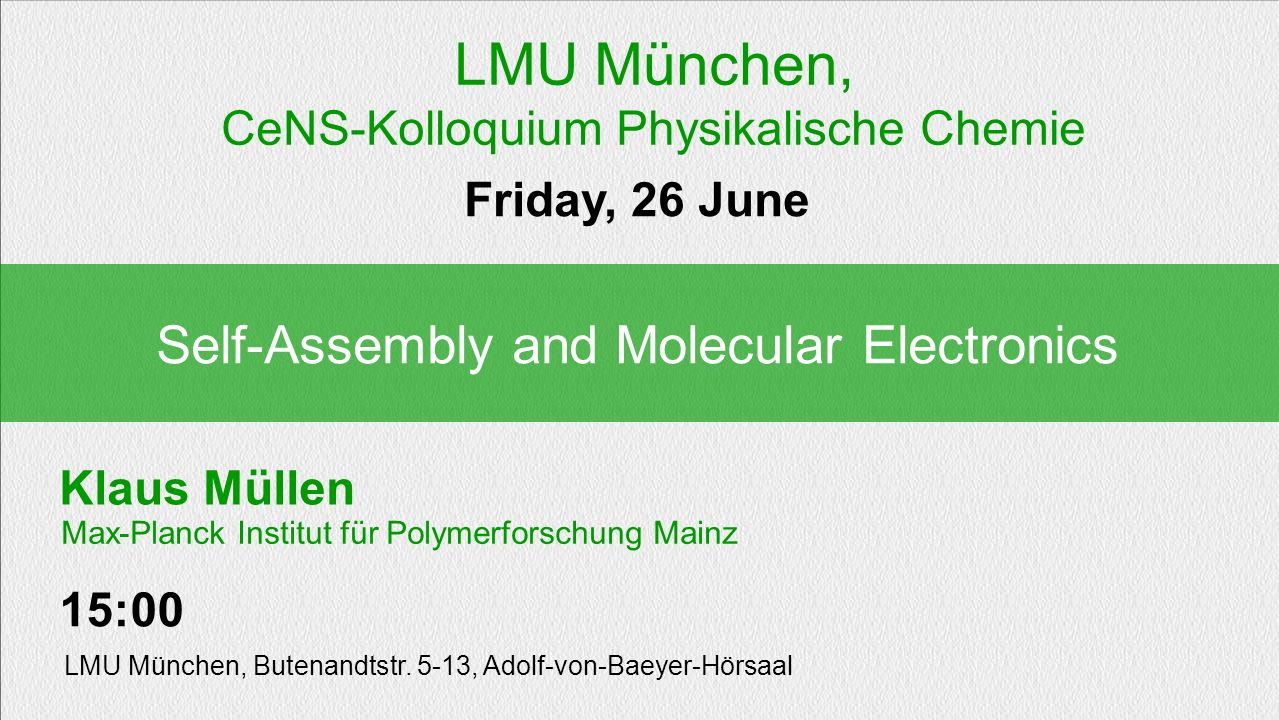 LMU München, Self-Assembly and Molecular Electronics
