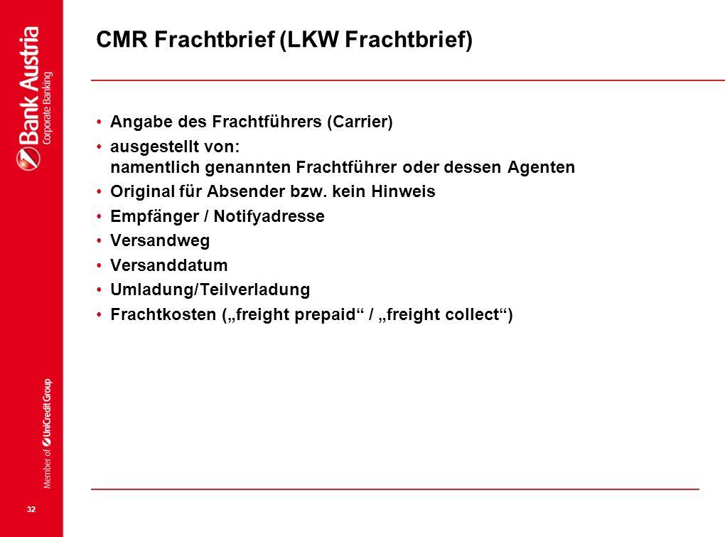 CMR Frachtbrief (LKW Frachtbrief)
