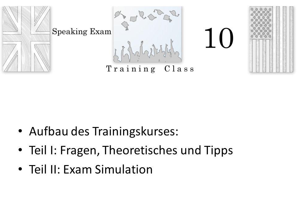 Aufbau des Trainingskurses: