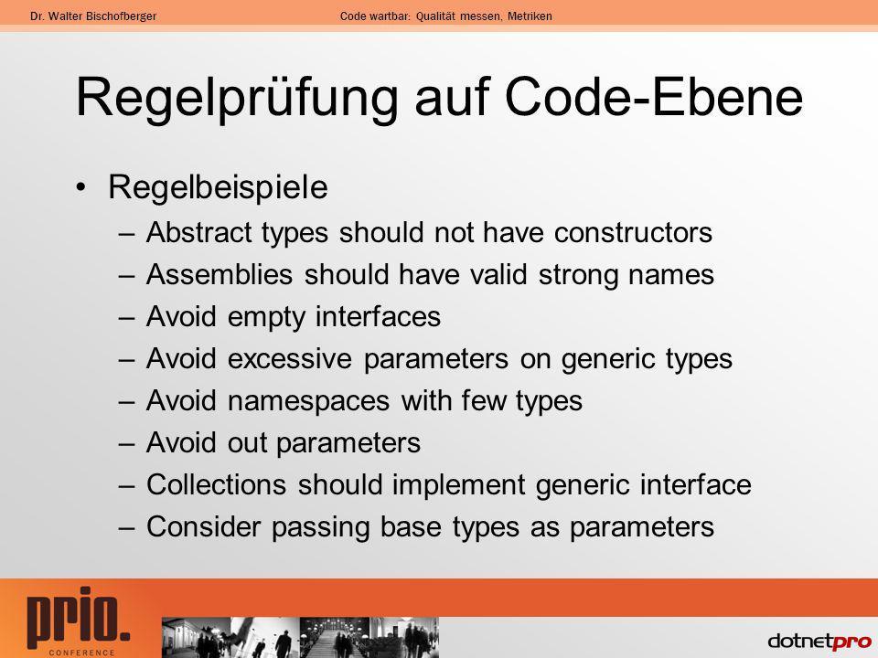 Regelprüfung auf Code-Ebene