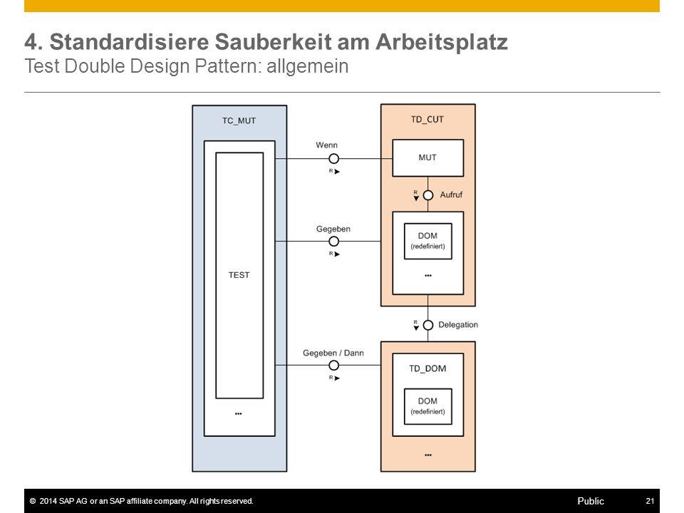 4. Standardisiere Sauberkeit am Arbeitsplatz Test Double Design Pattern: allgemein