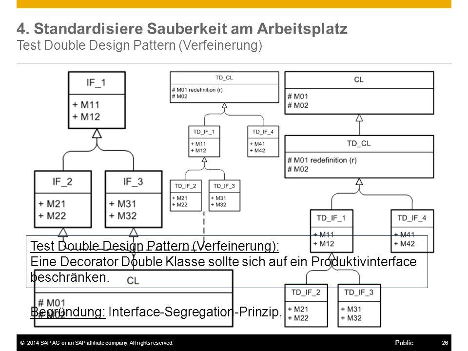 4. Standardisiere Sauberkeit am Arbeitsplatz Test Double Design Pattern (Verfeinerung)