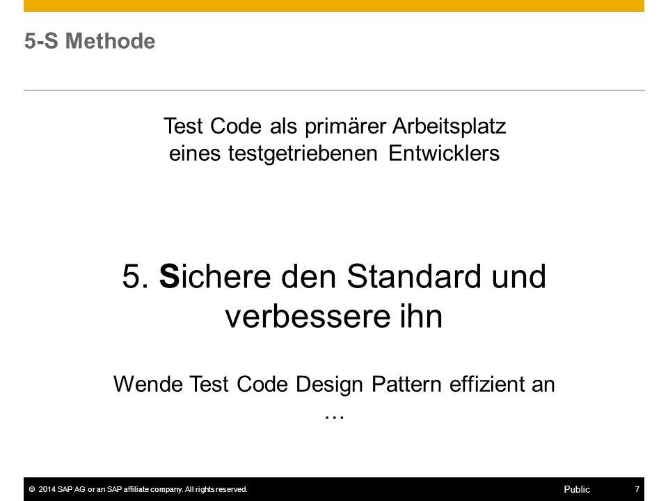 5. Sichere den Standard und verbessere ihn
