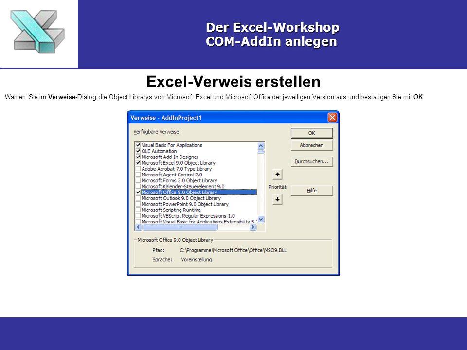 Excel-Verweis erstellen
