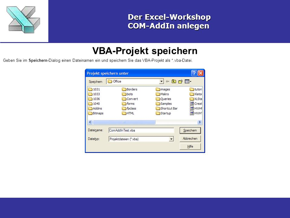 VBA-Projekt speichern
