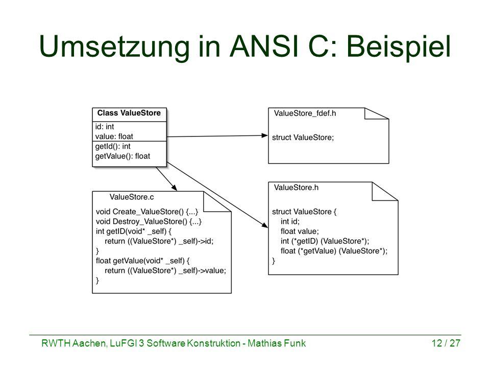 Umsetzung in ANSI C: Beispiel