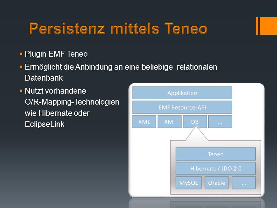 Persistenz mittels Teneo