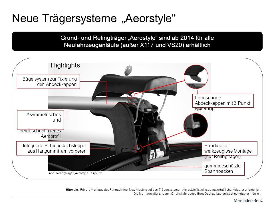 """Neue Trägersysteme """"Aeorstyle"""