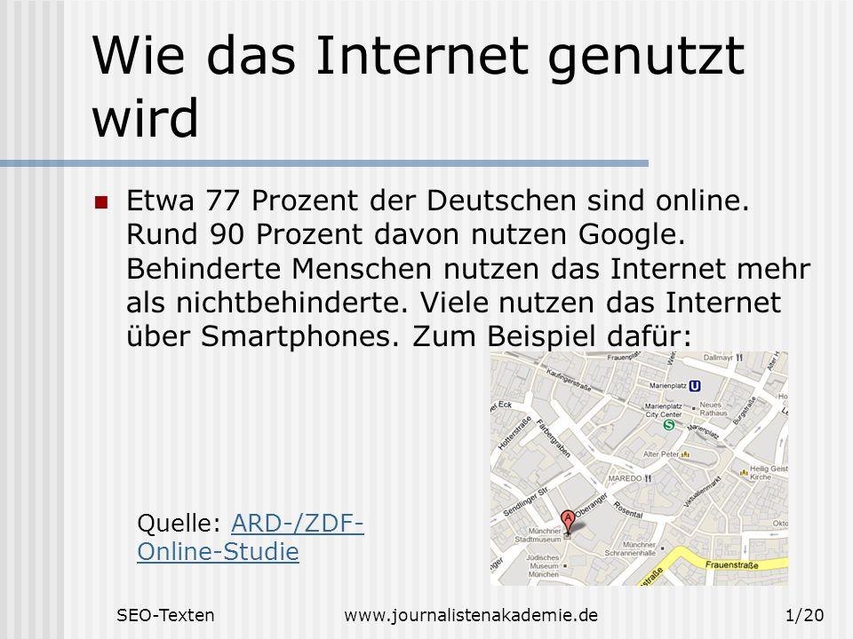 Wie das Internet genutzt wird