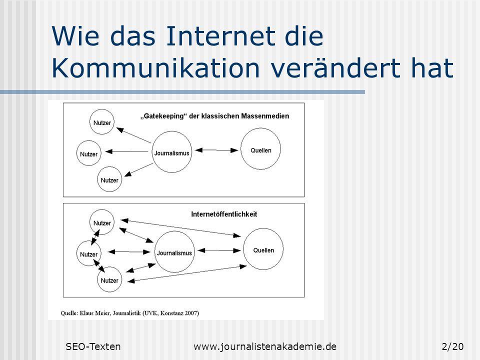 Wie das Internet die Kommunikation verändert hat