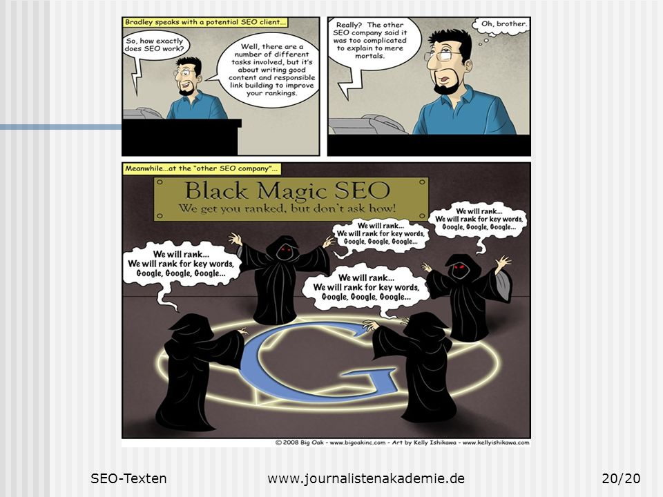 SEO-Texten www.journalistenakademie.de
