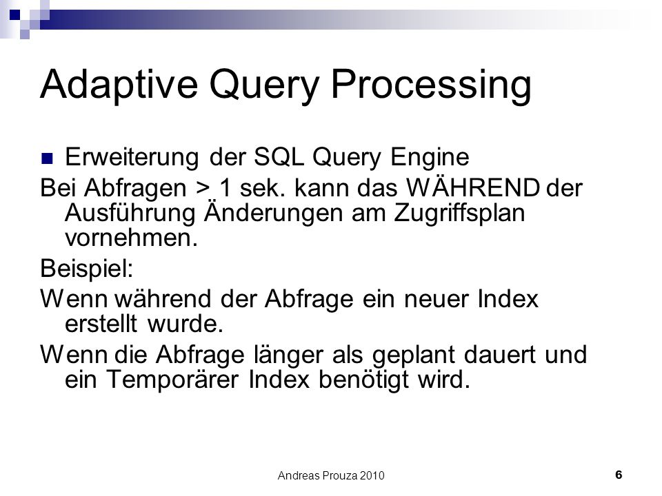 Adaptive Query Processing