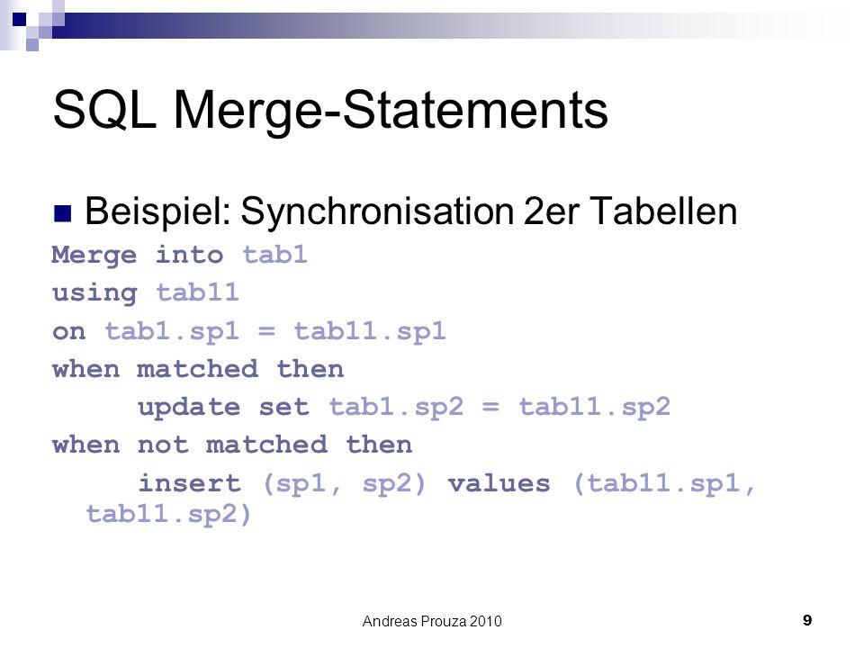 SQL Merge-Statements Beispiel: Synchronisation 2er Tabellen