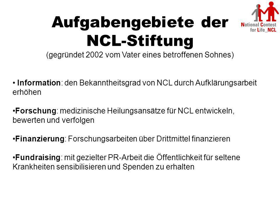 Aufgabengebiete der NCL-Stiftung