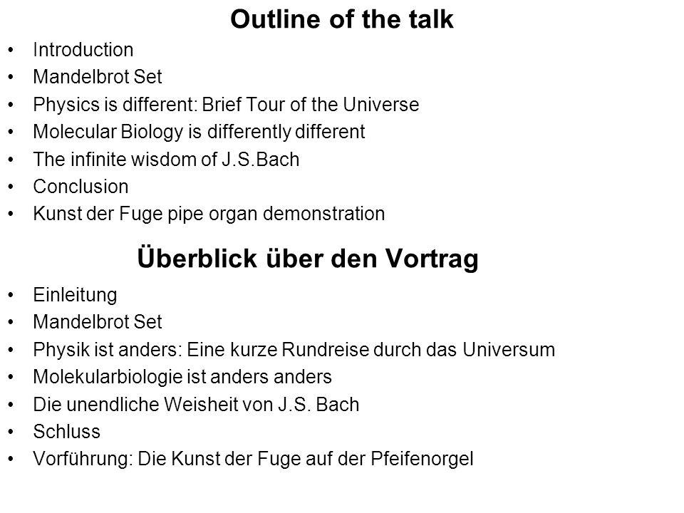 Überblick über den Vortrag