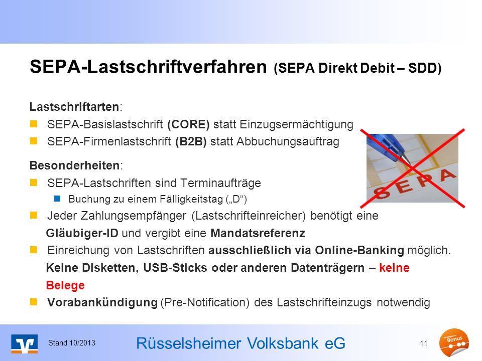 SEPA-Lastschriftverfahren (SEPA Direkt Debit – SDD)