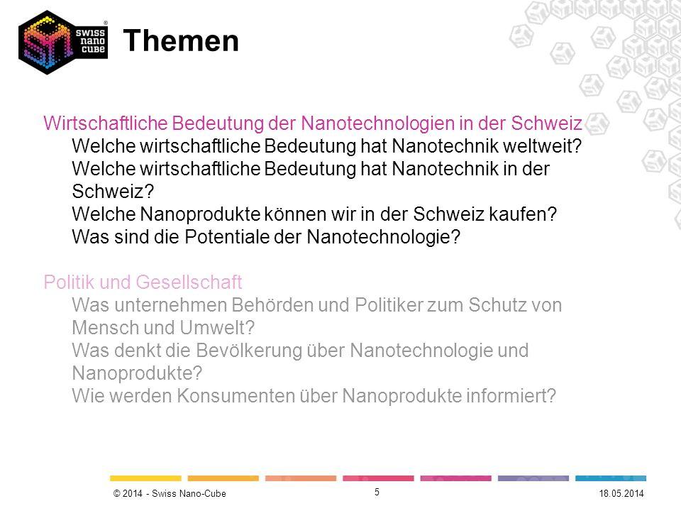 Themen Wirtschaftliche Bedeutung der Nanotechnologien in der Schweiz