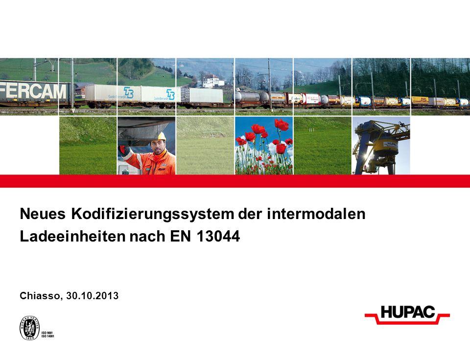 Neues Kodifizierungssystem der intermodalen Ladeeinheiten nach EN 13044