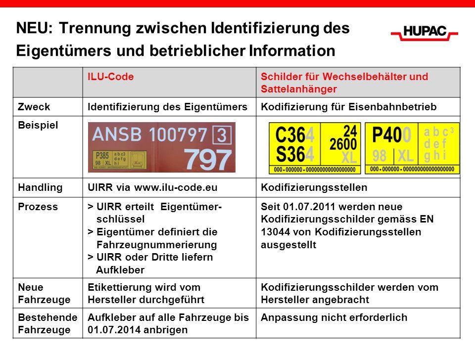 NEU: Trennung zwischen Identifizierung des Eigentümers und betrieblicher Information