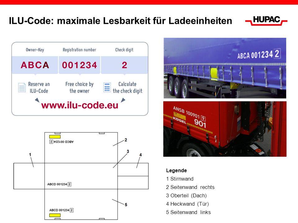 ILU-Code: maximale Lesbarkeit für Ladeeinheiten