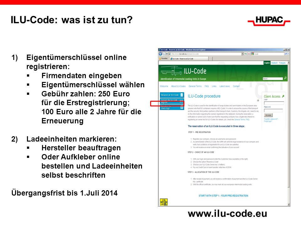 ILU-Code: was ist zu tun